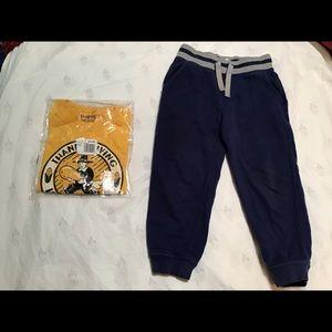 4T NWT Long Sleeve Turkey Shirt & Blue Pants Set